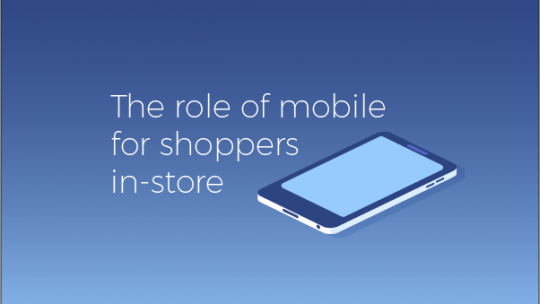 How are shoppers using mobile in-store?